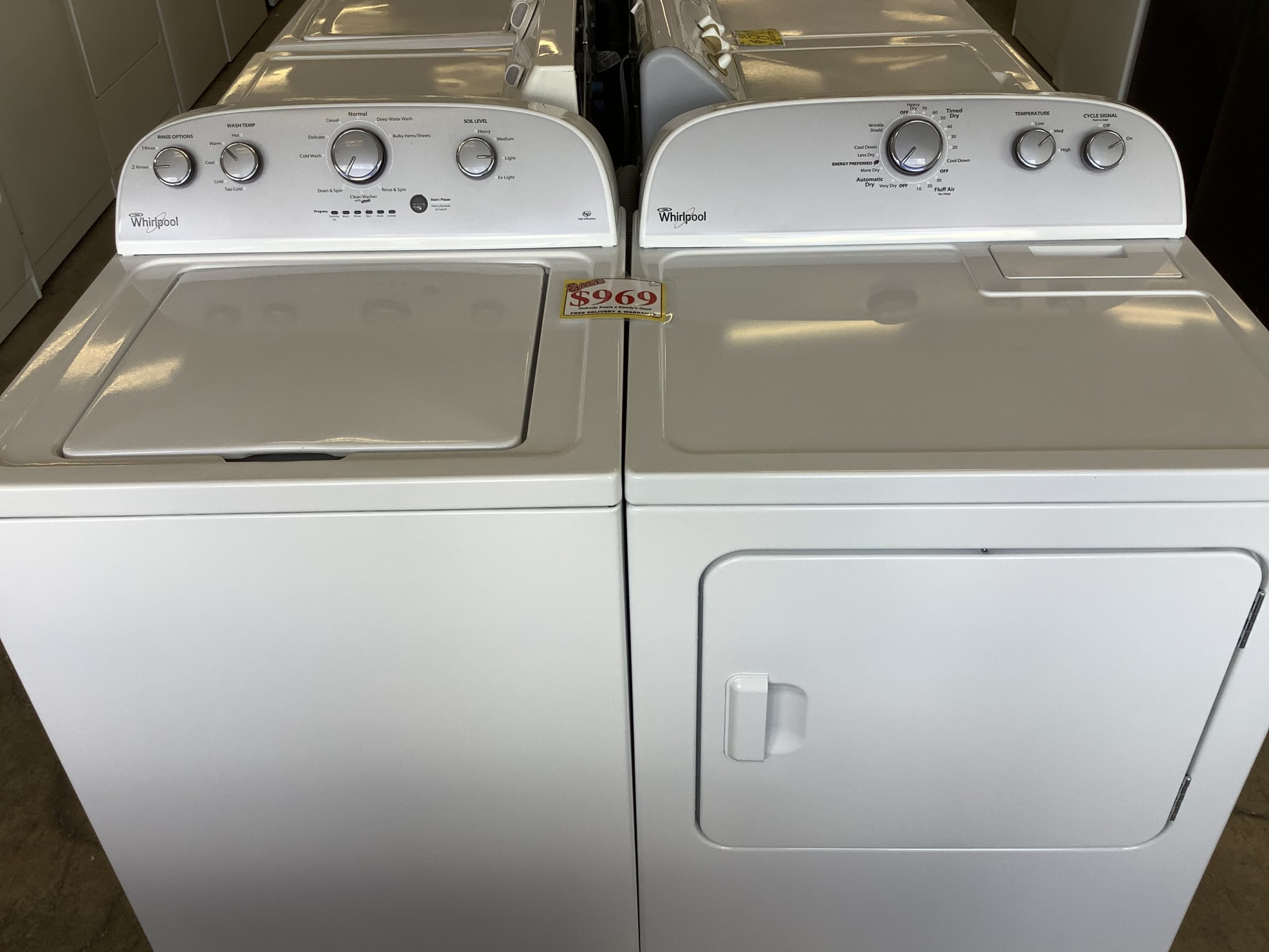 Whirlpool high efficiency washer and dryer Rinse option ...
