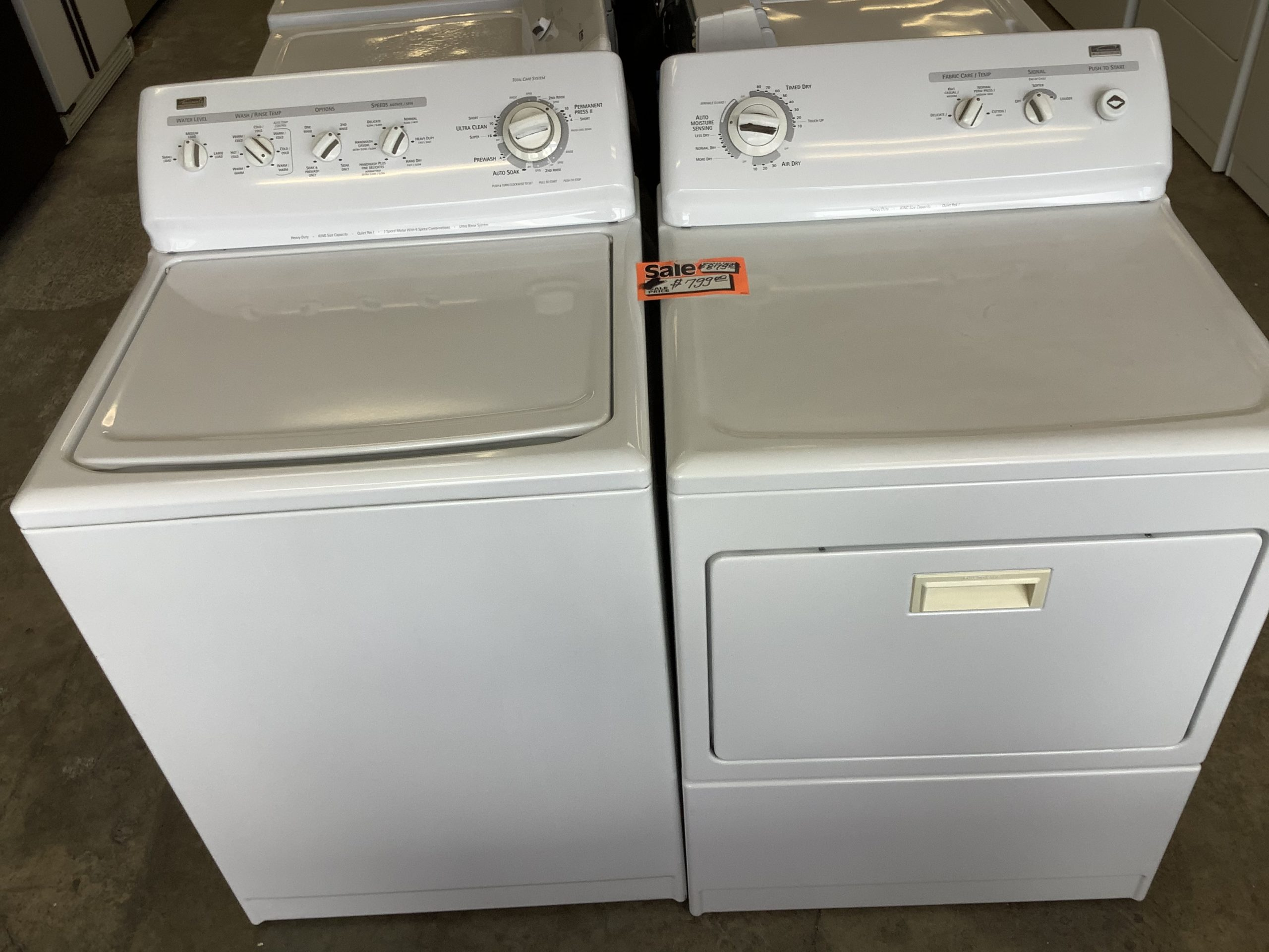 Kenmore Elite king size capacity washer and dryer Direct ...